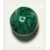 Glass Bead 12mm Nuggets Green Matrix Strung